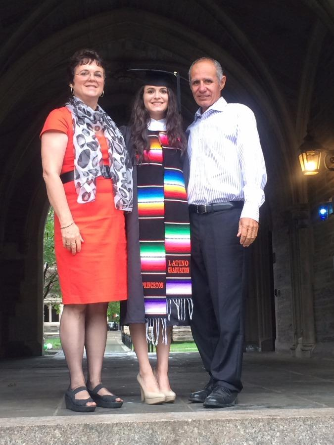 Rebecca's graduation from Princeton University 2015.