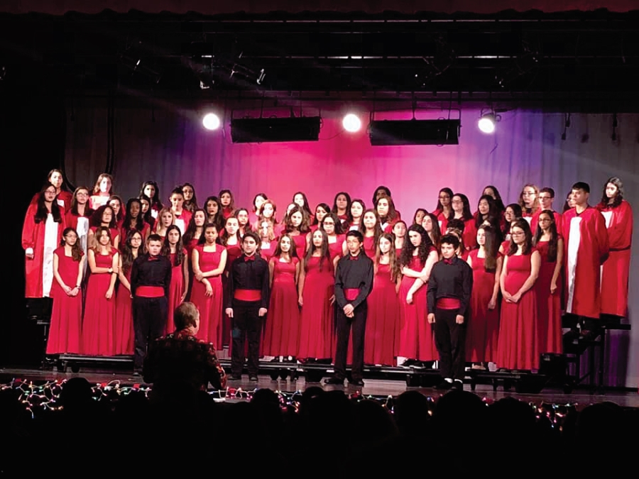 Combined choirs for Christmas concert 2017