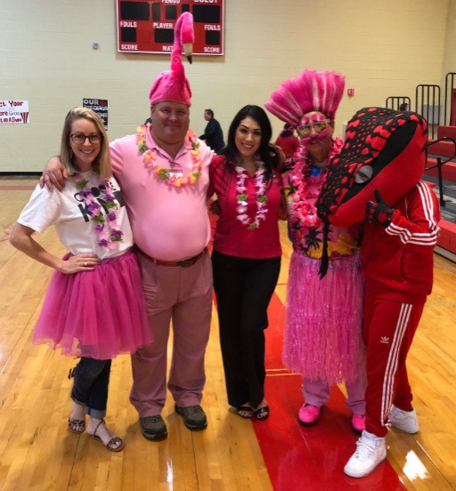 This is the image for the news article titled Rattlers Go Pink!