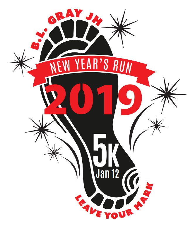 This is the image for the news article titled Leave Your Mark at the 2019 BL Gray New Year's Run!